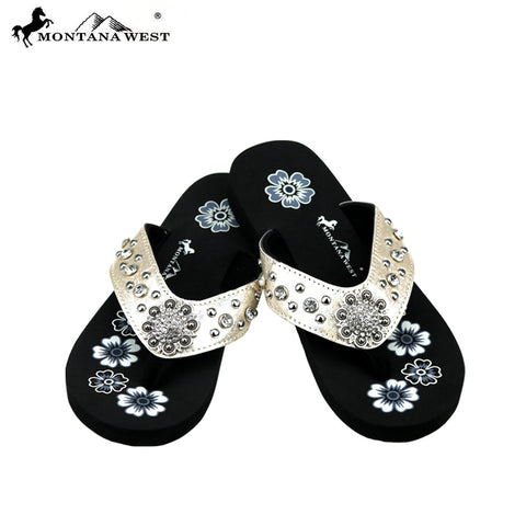 b20ae6389cd3 SE77-S001 Bling Bling Collection Flip Flops (Thin Sole) By Case