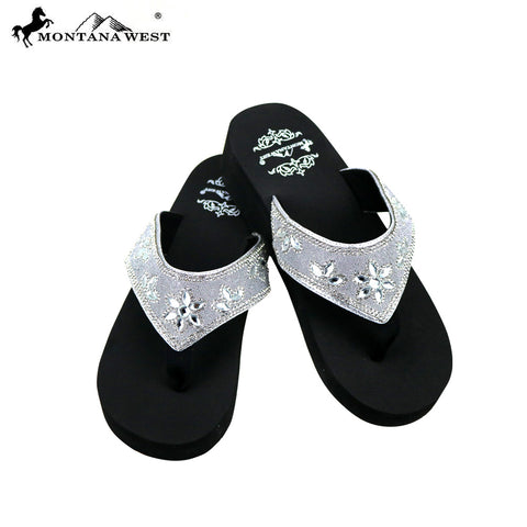 f4ca56b5c21cc SE81-S088 Bling Bling Collection Wedge Flip Flops By Case
