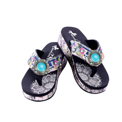 SEF02-S189 Montana West Embroidered Collection Flip Flops By Case
