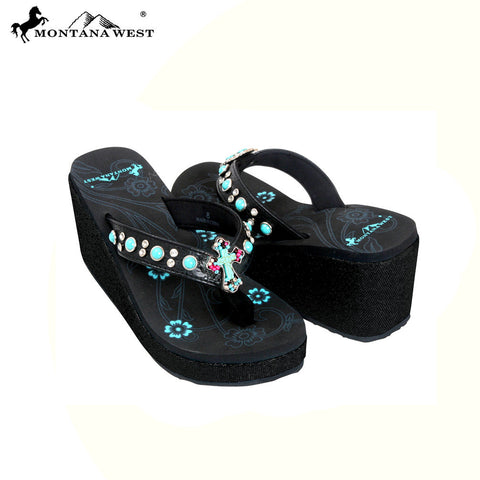 SEH01-S088 Metallic Glitter Collection Flip Flops By Size