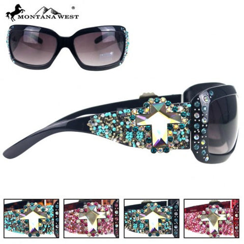 96beebe651 SGS-0115 Montana West Western Crystal Cross Collection Sunglasses