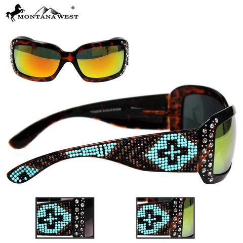 SGS-21A Montana West Aztec Hand-Beaded Sunglasses