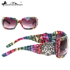 SGS-22A Montana West Floral Concho With Aztec Print Sunglasses
