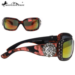 SGS-23A Montana West Floral Concho Cowhide Collection Sunglasses