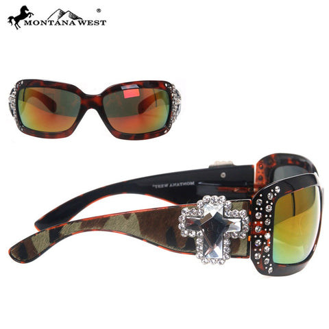 SGS-23B Montana West Spiritual Cowhide Collection Sunglasses
