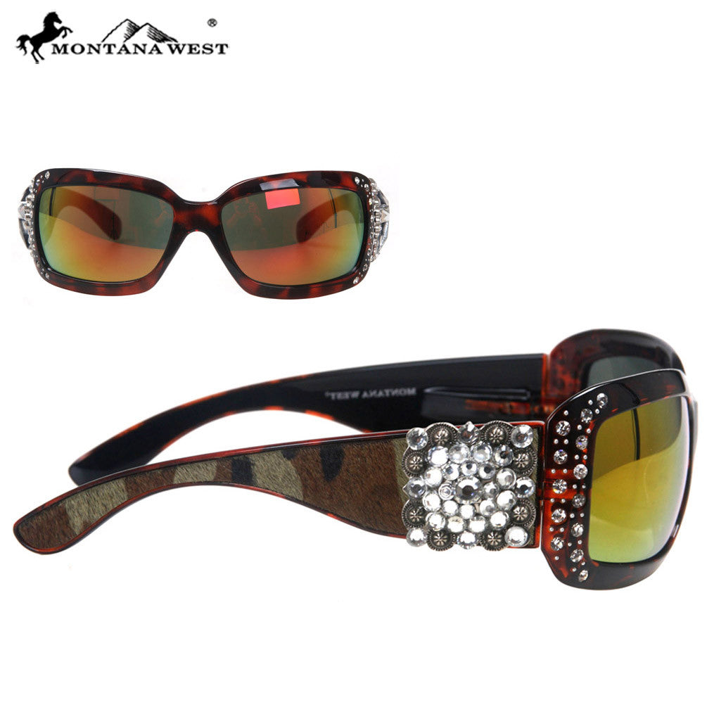 397a44f69812b SGS-23C Montana West Square Concho Cowhide Collection Sunglasses – MONTANA  WEST U.S.A