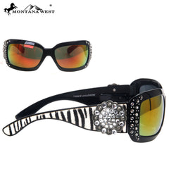 SGS-25A Montana West Floral Concho Zebra Collection Sunglasses