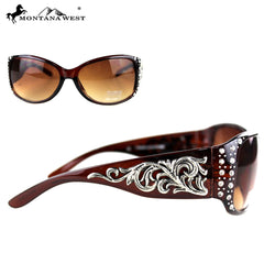 SGS-3502 Montana West Boot Scroll Collection Sunglasses