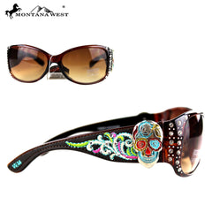 SGS-3605 Montana West Embroidery Sugar Skulll Collection Sunglasses