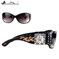 SGS-3607 Montana West Embroidery Square Concho Collection Sunglasses