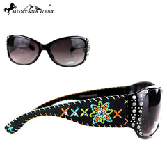 SGS-3609 Montana West Floral Embroidery Collection Sunglasses