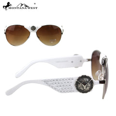 SGS-3705 Montana West Longhorn Collection Aviator Sunglasses By Pair
