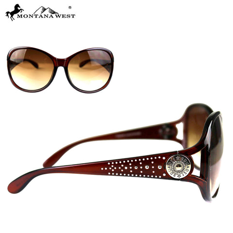SGS-4601 Montana West 12 Gauge Concho Collection Western Woman Sunglasses