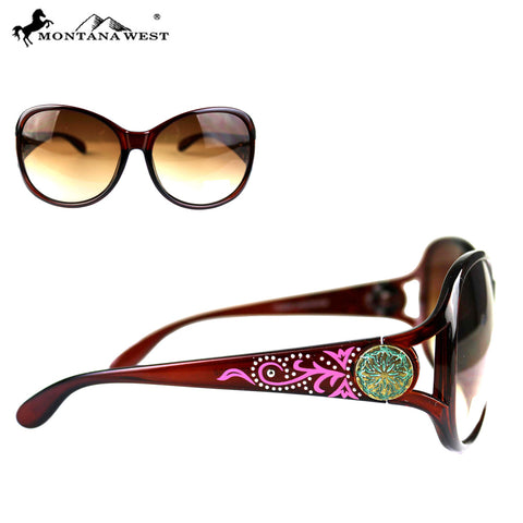SGS-4602 Montana West Concho Collection Westrn Woman Sunglasses