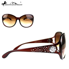 SGS-4603 Montana West Crystal Concho Collection Western Woman Sunglasses By Pair