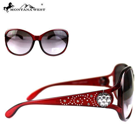 SGS-4603 Montana West Crystal Concho Collection Western Woman Sunglasses