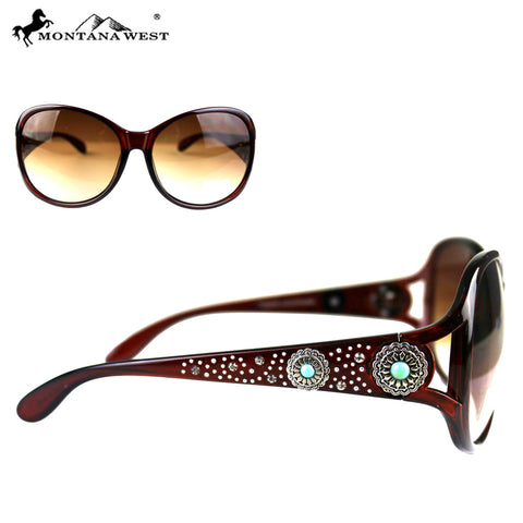 SGS-4606 Montana West  Concho Collection Western Woman Sunglasses By Pair