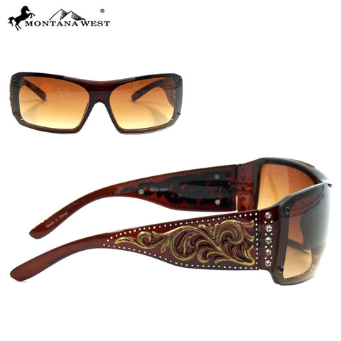 SGS-5401 Montana West Western Scroll Collection Sunglasses By Dozen