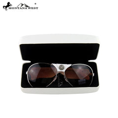SGS-3711 Montana West Gauge Concho Collection Aviator Sunglasses