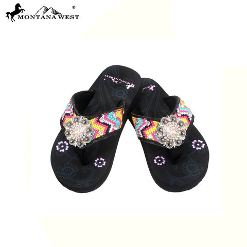SK10-S001 Aztec Thin Sole Kid Collection Flip Flops BY CASE