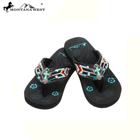 SK11-S088S Aztec Thin Sole Kid Collection Flip Flops BY CASE