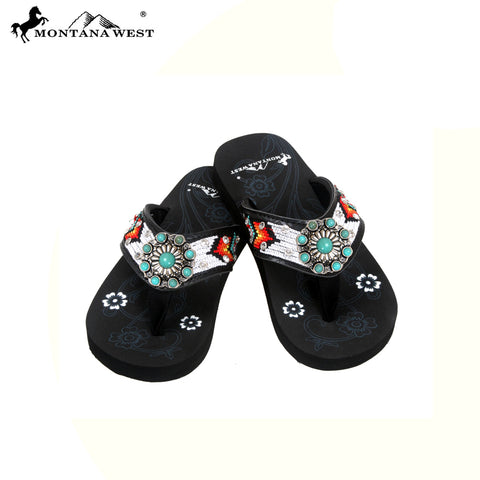 SK13-S066S Aztec Kid Collection Flip Flops BY CASE (Thin Sole)