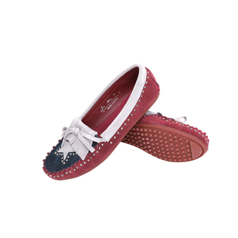 SMT-TX01 Montana West Western Leather Suede Moccasin Slipper Texas Flag Design - By Case