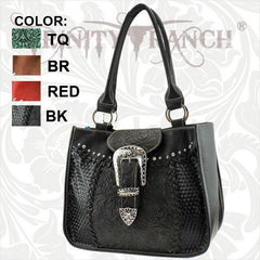 SR-8263 Sedona Ranch Collection Trinity Ranch Handbag-Black