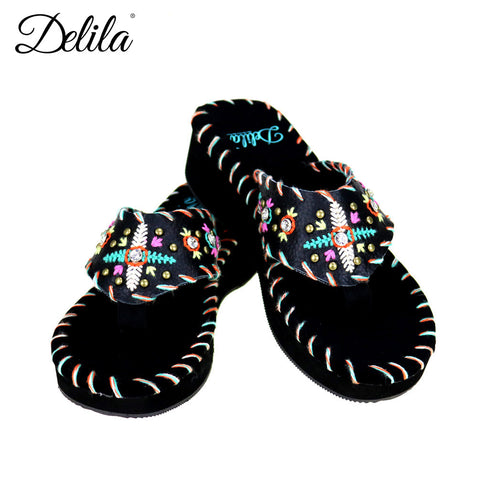 SS-S002 Delila Collection Flip Flops By Size