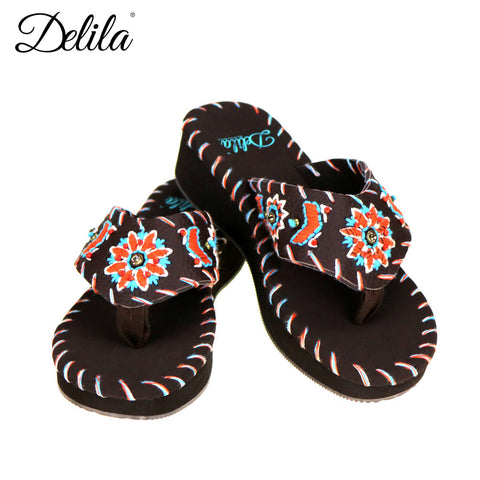 SS-S009 Delila Collection Flip Flops By Case