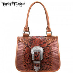 TR-SSF-8263 Montana West Buckle Collection Trinity Ranch Handbag