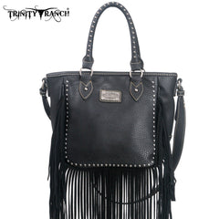 TR10-8359 Trinity Ranch Fringe Design Tote/Crossbldy