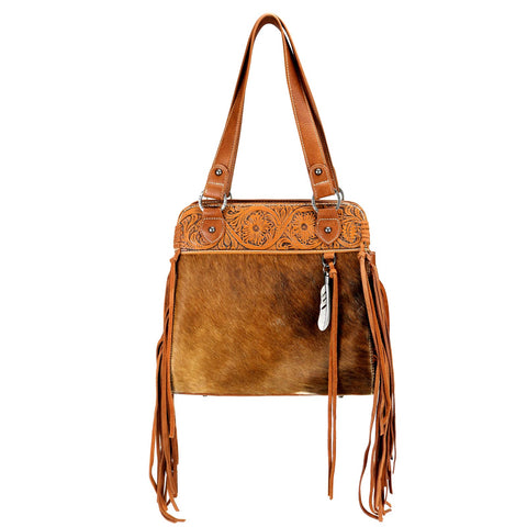 TR100G-8317 Trinity Ranch Hair-On Leather Collection Concealed Handgun Tote Bag