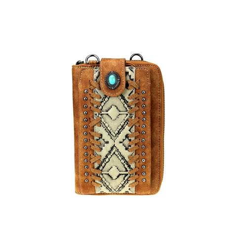 TR103-183 Trinity Ranch Embossed Collection Phone Wallet/Crossbody