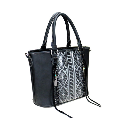 TR103G-8317 Trinity Ranch Embossed Collection Concealed Carry Tote/Crossbody