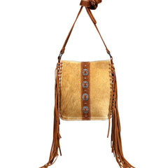 TR107G-9360 Trinity Ranch Hair-On Cowhide Collection Concealed Carry Crossbody Bag
