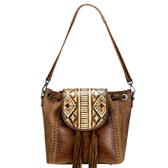 TR108-8275 Trinity Ranch Embossed Leather Collection Concealed Carry Hobo/Crossbody