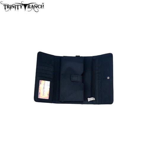 TR109-W018 Trinity Ranch Tooled Collection Wallet/Wristlet