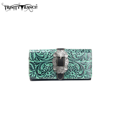 TR11-W002 Trinity Ranch Tooled Collection Wallet