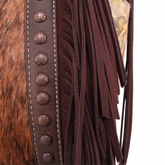 TR114G-9360 Trinity Ranch Hair-On Leather Collection Concealed Handgun Hobo/Crossbody Bag