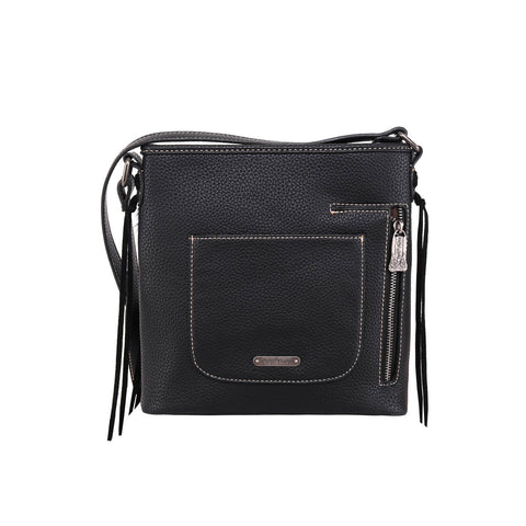 TR115G-8360 Trinity Ranch Hair-On Leather/Fringe Collection Concealed Handgun Crossbody Bag