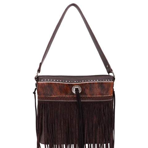 TR115G-918 Trinity Ranch Hair-On Leather/Fringe Collection Concealed Handgun Hobo