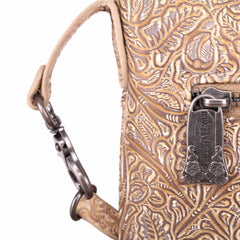 TR116-191 Trinity Ranch Tooled Leather Collection Crossbody/Boho Clip-On Hip Bag