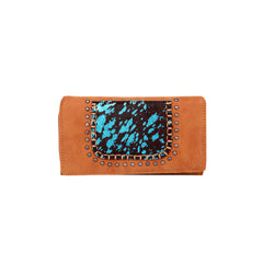 TR119-W010 Trinity Ranch Hair-On Collection Secretary Style Wallet