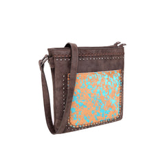 TR119G-9360 Trinity Ranch Hair-On Leather Collection Concealed Carry Crossbody Bag