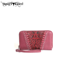TR12-W003 Trinity Ranch Tooled Design Wallet