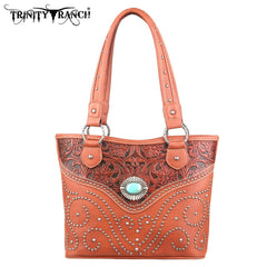 TR14-8005 Trinity Ranch Tooled Design Handbag