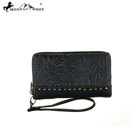 TR24-W003 Trinity Ranch Tooled Design Wallet