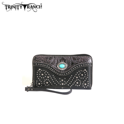 TR14-W003 Trinity Ranch Tooled Design Wallet