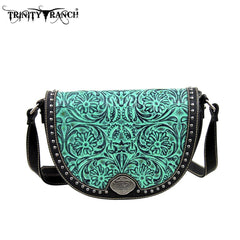 TR15-L8287 Trinity Ranch Tooled Design Collection Messenger Bag